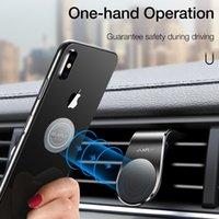 iphone typ handys großhandel-Magnetischer Autotelefonhalter für das iPhone Samsung Xiaomi L-Type Autolüftungsschlitz Handyhalter für das Telefon im Auto Starker Magnet
