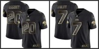 ingrosso oro giaguaro-Jacksonville Men Jaguars # 20 Jalen Ramsey 7 Nick Foles Donna Youth Black Gold Limited Maglie