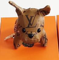 bibelots pour sac cadeau achat en gros de-2019 plus récent Arrived marque de mode chien Keychain Porte pour femmes filles sac voiture Porte-clé Trinket Bijoux Souvenirs cadeaux sans boîte