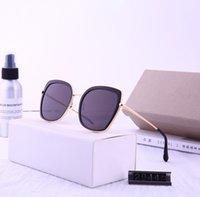 солнцезащитные очки лягушки оптовых-новая отделка солнцезащитные очки безрамный градиент океан ретро круглый лягушка зеркало металл тоже очки мужчины и женщины солнцезащитные очки