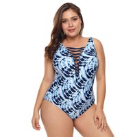 ingrosso bikini copre la pancia-Slip bikini stampato donna Slim Cover Belly Hot Spring Plus Costume da bagno intero donna Jooyoo di grandi dimensioni