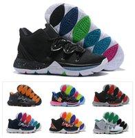 siyah büyü kadın toptan satış-Yeni Erkek Çocuklar Kyrie V 5 Siyah Sihirli Basketbol Ayakkabı Irving 5 S gençlik Kız Kadınlar Zoom Spor eğitimi Sneakers Yüksek Ayak Bileği Boyutu 4Y-7Y