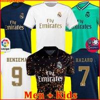 xxl настоящий мадридский трикотаж оптовых-Трикотажные изделия Real Madrid 19 20 футболка HAZARD SERGIO RAMOS BENZEMA camiseta 2019 2020 VINICIUS JR. футболка форменная мужская + детская форма