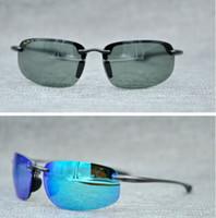 be1dbb7acdb53 Brand Designer 2018 Sunglasses Hookipa Maui Jim 407 Sun Glasses Polarized  lens MJ SPORT 407 Men Women Sunglasses Light Rimless Driving