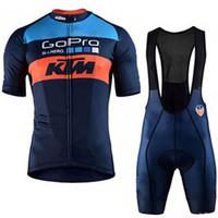 ciclismo bib set xs venda por atacado-2019 KTM Ciclismo Jersey Manga Curta Conjunto Maillot bib shorts Bicicleta Roupas Respirável Camisa Terno Roupas Maillot Ropa ciclismo