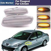 Wholesale amber side marker lights resale online - 2PCS Dynamic Amber LED Front Side Marker Light For RCZ