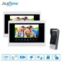 Wholesale villa video intercom for sale - Group buy JeaTone inch HD Unlocking Video Door Phone Intercom villa Monitor TVL Door Answering Outdoor Panel Intercom Kit