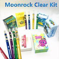 Wholesale battery press resale online - Moonrock Clear LED Light Battery mah Vape Pen with ml Cartridges Press Tips RAZZLE DAZZLE Bobby Blue Start Kits Cartridges
