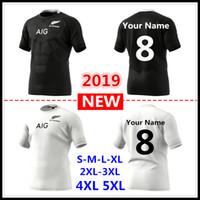süper sayılar toptan satış-Özel isimler ve numaralar 2019 2020 Yeni Zelanda All Blacks home away Rugby Formaları Süper Rugby forması Tüm Siyahlar forması Beden S-5xL