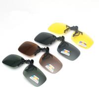 lunettes de soleil vue de nuit achat en gros de-Clip polarisé unisexe sur les lunettes de soleil Conduite rapprochée au volant Vision nocturne Vision anti-UVA Anti-UVB Lunettes de soleil à vélo
