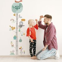 Wholesale measuring height wall stickers resale online - Cute Forest Tree Height Measure Wall Sticker For Kids Room Nursery Child Growth Chart Wall Decal Baby Gift Animal Room Decor