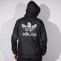 çift yüzlü hoodies toptan satış-Erkek Marka Ceketler 2019 Bahar Yeni Giysiler Ince Kamuflaj Koşu Takım Elbise Rahat Renk Eşleştirme Rüzgar Geçirmez Çift taraflı Hoodies