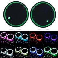 Wholesale mug mat coasters for sale - Group buy Led Luminescence Coaster Automobile Mug Mats Twinkle Colour Cup Wad Portable Wear Resistant Universal Sell Well zc J1