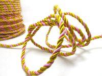 ingrosso cordone artigianale giallo-CLEARANCE | 5 Yards 5mm Corda gialla e rosa Corda | Corda | Corda | Corda decorativa | Corda | Forniture artigianali