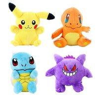 ingrosso ems giocattoli-2019 nuovi 18 cm / 7 pollici Cartoon Pikachu peluche Anime Pocket mostro Animali di peluche per bambini regalo di compleanno EMS C6819