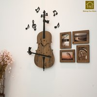 Wholesale clock abstract art for sale - Group buy Art Personality Wall Clock Modern Design Wooden Watch Mechanism Unique Decor Relogio Parede Decorations Clocks Abstract