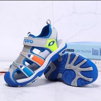Children's Sandals Boys Outdoor Sport Closed-Toe Shoes Kids Summer Beach Breathable Water Shoes