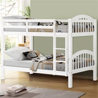 Wholesale antique solid wood resale online - US Hot Selling Solid Wood Twin Over Twin Bunk Bed with Ladder Espresso Fast Shipping In Stock
