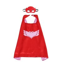 Wholesale girls super hero costume for sale - Group buy Hot Selling Superhero Cape With Mask High Quality Christmas New Year Party Clothes For Kids Boy Girl
