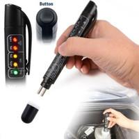 meilenkorrektur-schlüsselprogrammierer großhandel-Auto Bremsflüssigkeit Öl Tester Detection Pen mit 5 LED-Anzeige Car Testing Tool