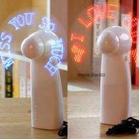 светодиодный индикатор питания оптовых-LED Мини Красочный Свет Вентилятор Портативный Вентилятор Охлаждения Питания Батареи С Ремешком Студент Идеальный Подарок LED Мигающий Вентилятор Drop Ship