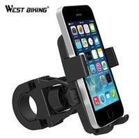porta-telemóveis para bicicletas venda por atacado-WEST BIKING Telefone Inteligente Anti-roubo Titular do Telefone Da Bicicleta Da Bicicleta Suporte de Montagem Suporte para o iPhone Samsung HTC Sony Celular GPS # 80408