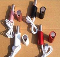 ruj usb toptan satış-USB Şarj Edilebilir Ruj Yüz Saç Çıkarıcı Kırmızı Mini Taşınabilir Vücut Epilatör 18 K Altın Kaplama Kadın Ağrısız Epilasyon