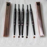 dreieckwerkzeuge großhandel-Double Ended Augenbrauenstift Langlebige Wasserdichte Drehbare Dreieck Augenbrauen Bilden Werkzeuge 5 Farben RRA995