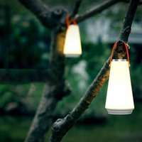 lámpara recargable de emergencia para el hogar al por mayor-LED Creative Night Light Home Lámpara de mesa USB recargable portátil inalámbrico Touch Switch Outdoor Camping Emergency Light 1 pc