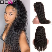 Wholesale inch curly human hair wigs resale online - 360 Full Lace Human Hair Wigs Brazilian Deep Wave Curly Virgin Human Hair Cheap Wigs For Women Lace Wig Inch Remy Beyo