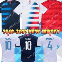 camisas de futebol de qualidade eua venda por atacado-Qualidade Tailândia 10 PULÍSTICA EUA Camisas de Futebol BRADLEY DEMPSEY YEDLIN 18 19 América Casa Mens Camisa de futebol
