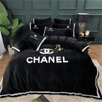 kraliçe kraliçe yatak toptan satış-Tasarımcı Moda Yatak Takımları Kral Kraliçe Yatak Takımları Çarşaf Adam Ve Kadınlar Için 4 adet Yorgan Kapağı Yatak Setleri