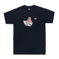 rato dos desenhos animados venda por atacado-19 Kith X Tom Jerry Coração Tee Bonito Dos Desenhos Animados Gato e Rato Impresso Homens Mulheres T-shirt de Manga Curta Rua Skate Verão camiseta