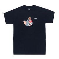 camisetas de tom al por mayor-19SS Kith X Tom Jerry Heart Tee Lindo Gato de Dibujos Animados y Ratón Impreso Hombres Mujeres Camiseta Manga Corta Calle Monopatín Camiseta de Verano