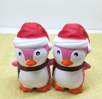 Wholesale food key rings for sale - Group buy Bravo Factory Christmas Penguin Squishy Penguin Squishy Simulation Food For Key Ring Phone Chain Toys Gifts All Kinds Of Style
