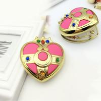 ingrosso luna specchio-Cute Sailor Moon S Moonlight Memory Serie Cosmic Heart Mirror Case Specchio cosmetico compatto in cristallo