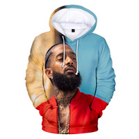 novo desenhista hoodies venda por atacado-Novo Designer de Verão Hoodies Das Mulheres Dos Homens Rap 3D Hoodie com capuz nipsey hussle Casual Harajuku Pullovers