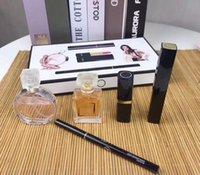 conjuntos de maquiagem para meninas venda por atacado-Marca Maquiagem Perfume Set 5 em 1 Coco Perfumes 15ml Cosméticos Batom Mascara Eyeliner Sets Mini viagens para Mulheres Meninas do presente