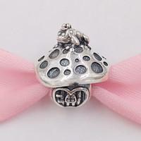 cuentas de rana al por mayor-Auténticos 925 Sterling Silver Beads seta encantos de la rana del encanto se adapta al estilo europeo joyería de Pandora collar de las pulseras 798558C00