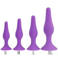 Wholesale bead plug free resale online - January3 Anal Sex Toy Silicone Anal Plug Four Piece Anal Stimulation Pull Beads Hands Free Suction Cup Plug Massager Butt Plug C0166
