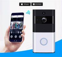 tarjeta pir al por mayor-2019 Nuevo Z-BEN Videoportero inalámbrico HD PIR WIFI Timbre de la puerta Intercomunicador 720P IP Cámara Batería Potencia Audio Ranura para tarjeta SD Seguridad al aire libre