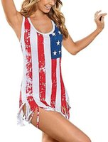 Wholesale plus size women wearing bikinis online – Plus Size Women Sexy Bikini American Flag Stars Stripes Bikini Swimsuits streetwear sport swim wear flexible stylish ladies girl Big online
