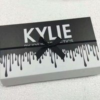 Wholesale 12 set lipstick resale online - Kylie LIPGLOSSBurthay colors matte liquid lipstick Keri cosmetics new kylie black butterfly lip gloss sets