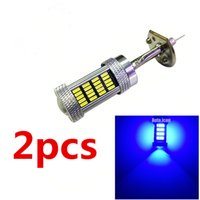 h1 blaue led leuchtet großhandel-2x High Power Auto Nebelscheinwerfer Lampe blau und eisblau H1 4014 LED 92 SMD