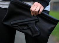 Wholesale 3d pistol bag resale online - Designer Clutches Women Messenger Bags d Print Gun Shoulder Bags PU Leather Lady Day Pistol Clutches Women Crossbody Bag