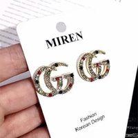 Wholesale black animal ears resale online - 2019 Fashion Designer Earrings Letters Earrings Gold Plated Ear Studs Earddrop For Women Girl Party Wedding Jewelry