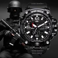 relojes análogos automáticos para hombre al por mayor-G Choque estilo hombres de los relojes militares del ejército del reloj para hombre Reloj LED Digital Sports Reloj masculino analógico relojes automáticos regalo de Navidad Hombre