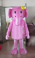 personagens profissionais venda por atacado-Costume profissional Elefante Rosa Traje Da Mascote tailandesa pouco elefante Personagem Roupas Halloween festival Partido Do Vestido Extravagante