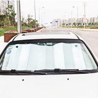 ingrosso isolamento per auto-130 CM * 60 CM Auto Parasole Singolo Lato Argento Schiuma di Cotone Parasole Anti Aerazione Raffreddare Giù Isolamento termico HHA294