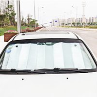 enfriador caliente al por mayor-130 CM * 60 CM Car Sun Shade Único Lado de Espuma de Plata Sombrilla de Algodón Anti Aireación Enfriamiento Aislamiento de Calor HHA294